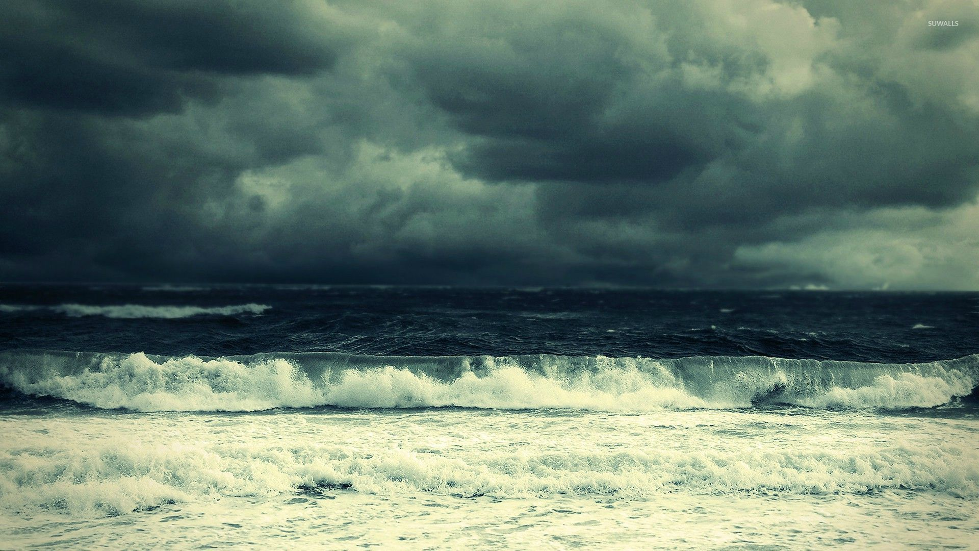 Stormy sea wallpaper - Beach wallpapers - #26679