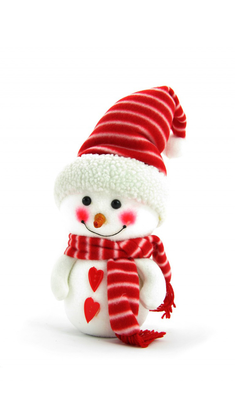 image Cute Christmas Snowman Iphone Wallpaper PC Android iPhone 750x1334