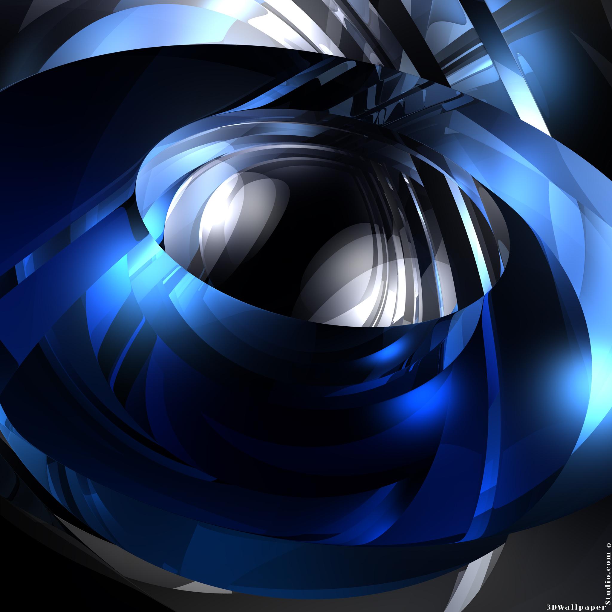 3D Wallpaper Delightfully blue 2048 x 2048 2048x2048