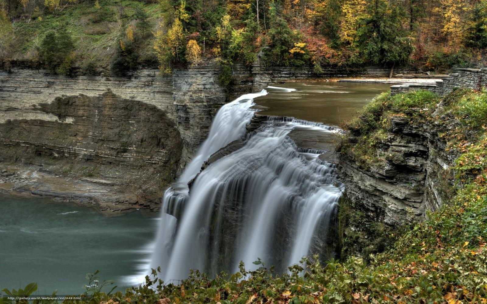 wallpaper river waterfall autumn landscape desktop wallpaper 1600x1000