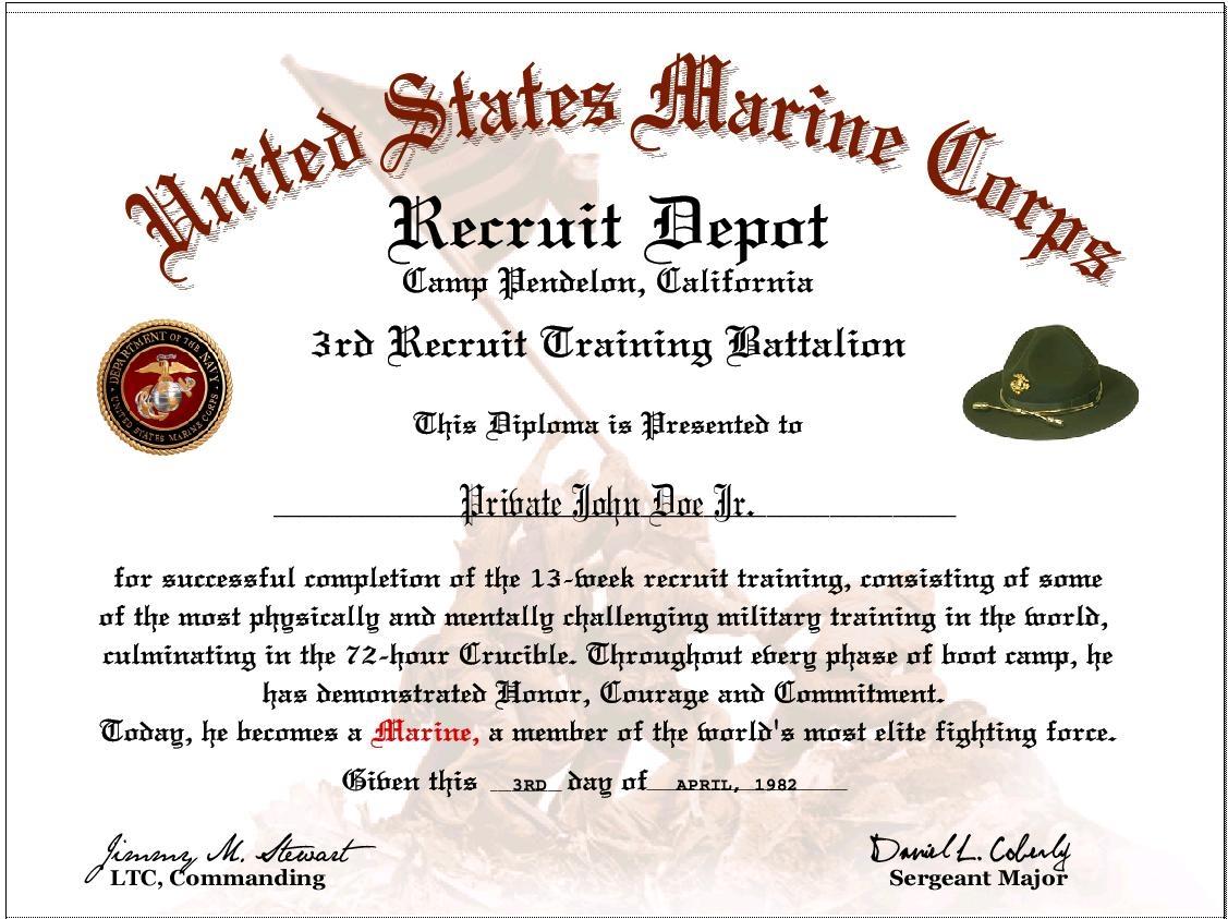 USMC NCO Creed Print Out 1127x843
