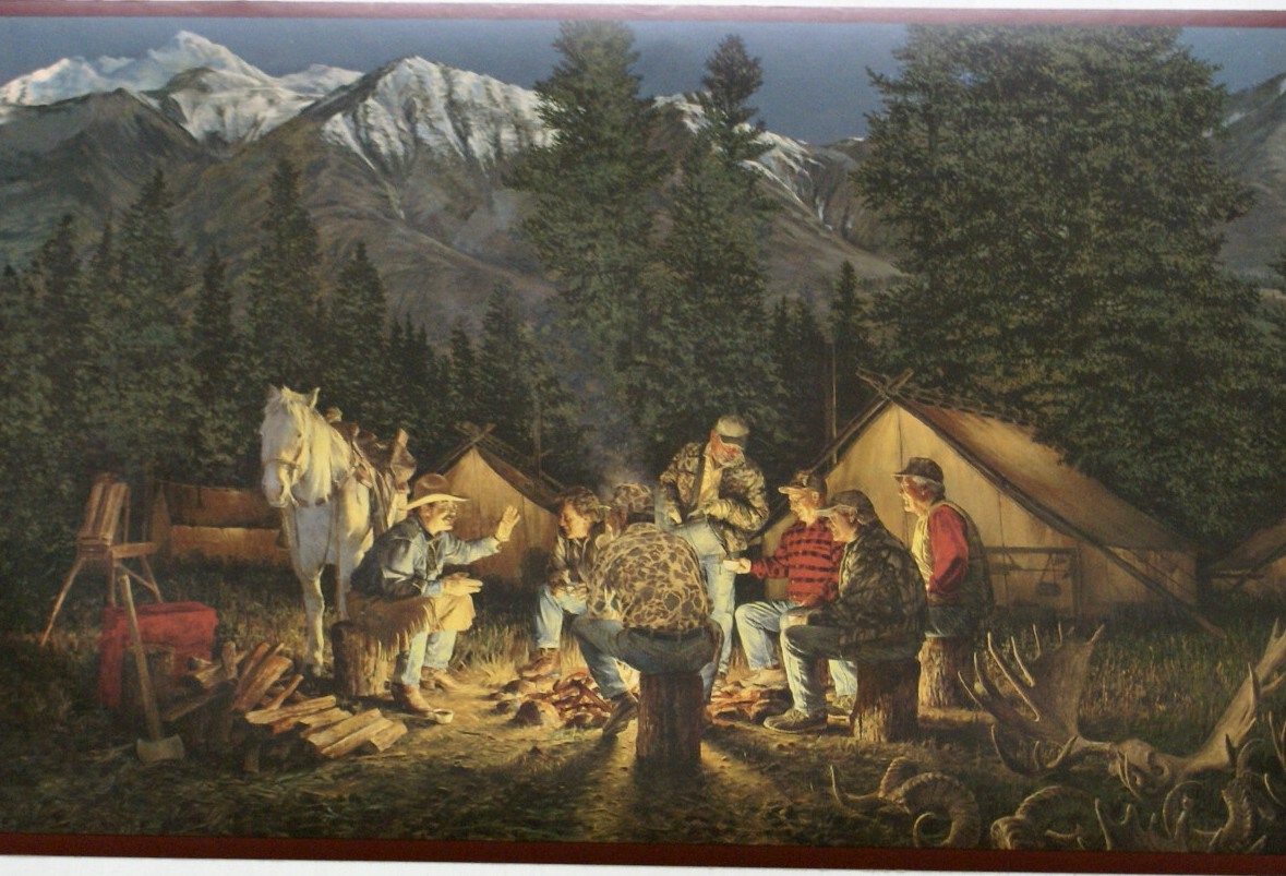 Western Wallpaper Border Campfire cowboys wallpaper 1179x803