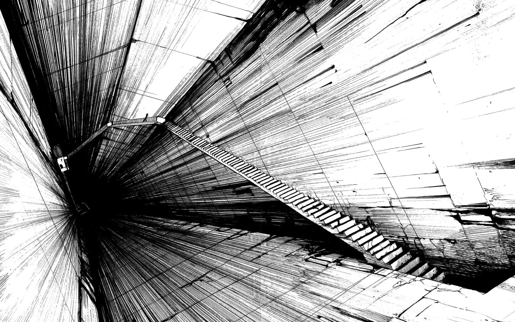 Pics Photos   Black White Abstract Design Wallpaper 1680x1050