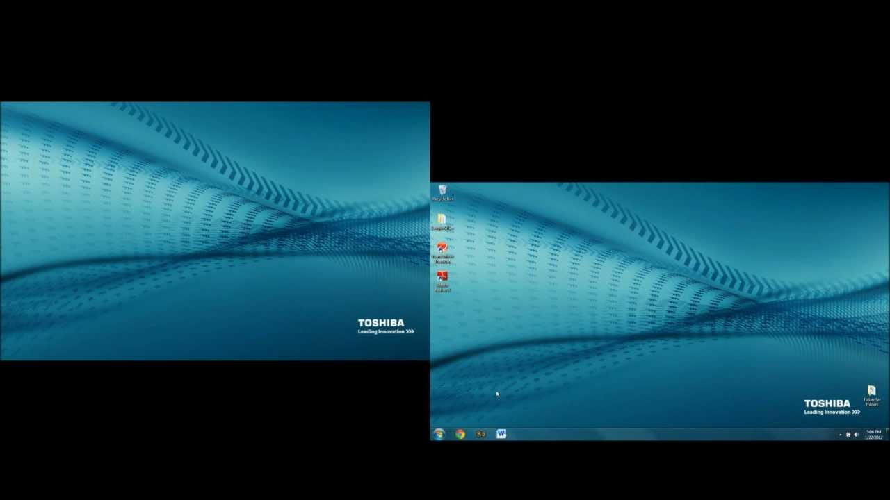 Dual Monitors Windows 7 1280x720