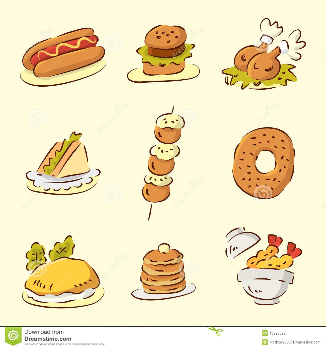 Cartoon food wallpaper wallpapersafari for Animation cuisine