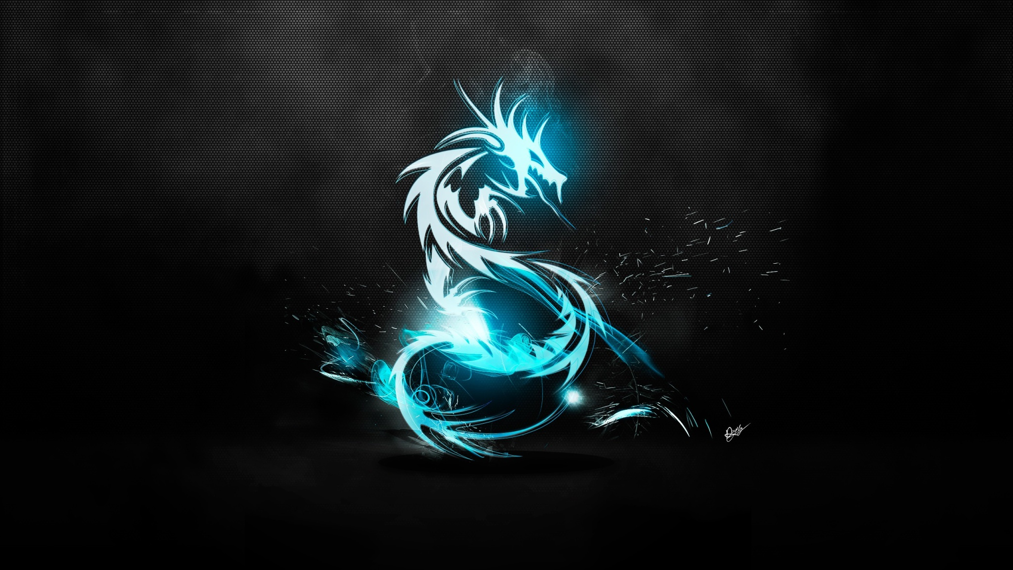 Blue Dragon Logo High Definition Wallpaper 2048x1152