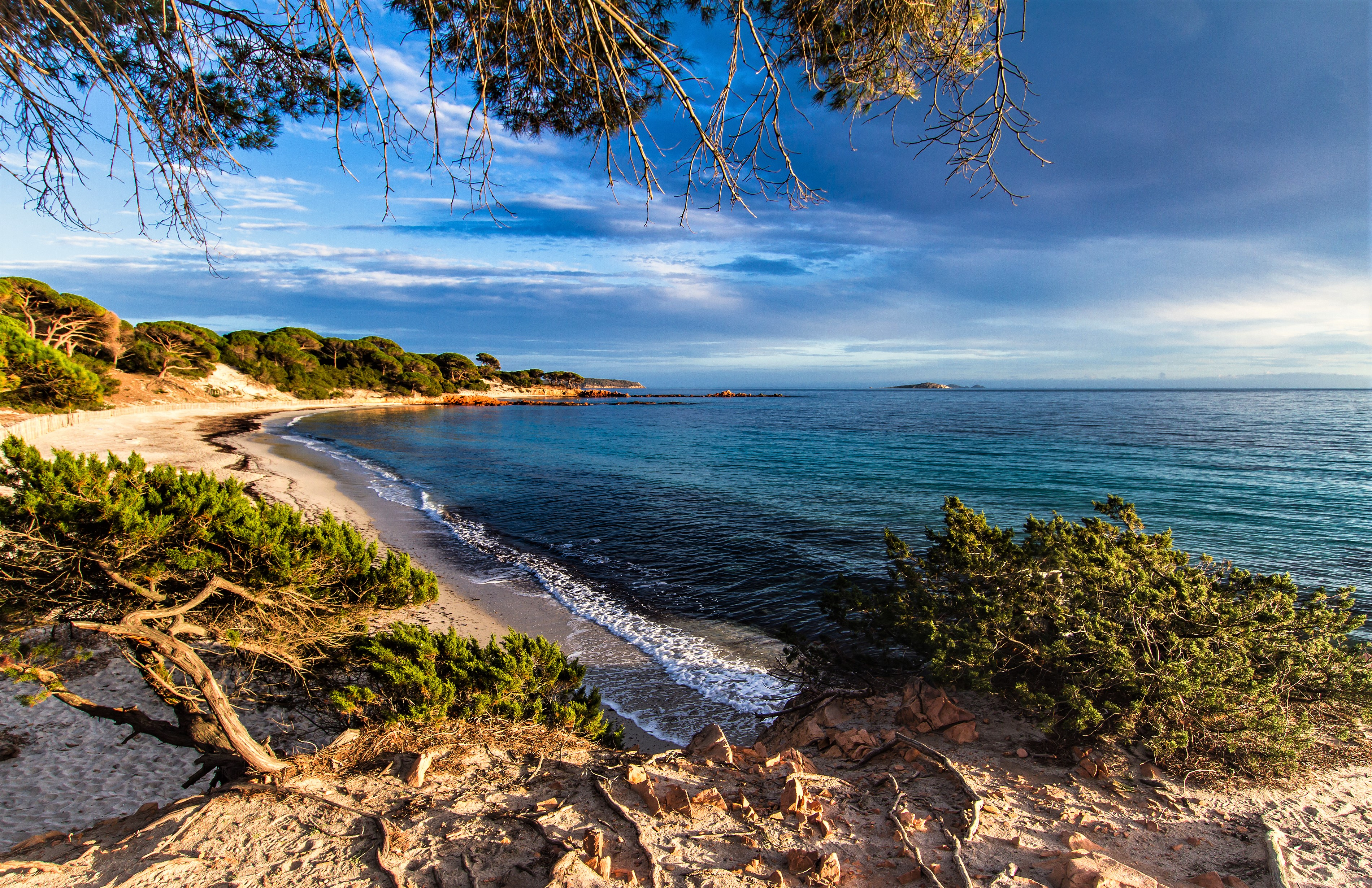 Coast of Corsica France HD Wallpaper Background Image 3800x2460