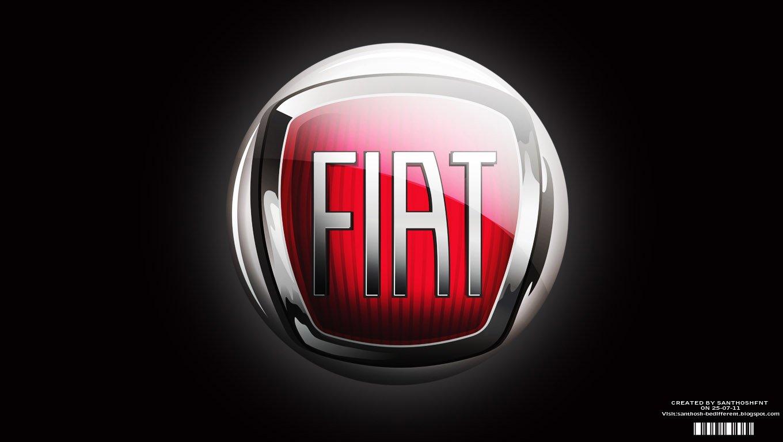 3D Fiat Logo Picture 3962   Ongur 1360x768