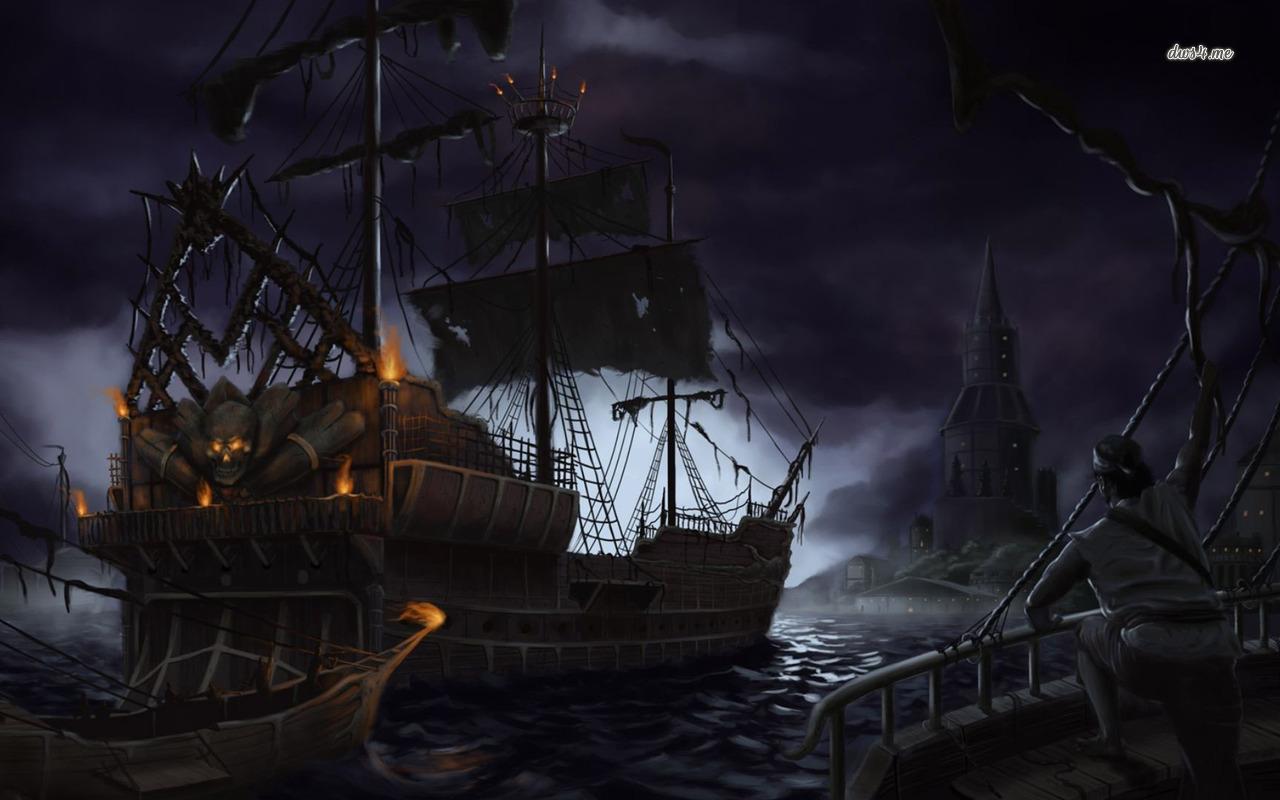 pirates pirate fantasy ship fish ocean underwater wallpaper background 1280x800