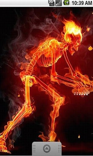 View bigger   Fire Skull Music LiveWallpaper for Android screenshot 307x512