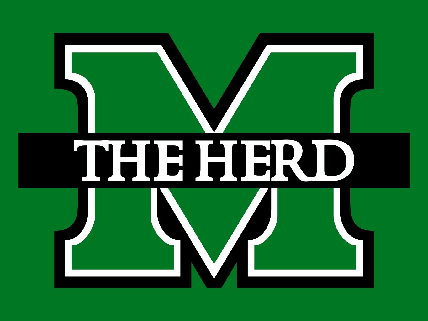 Download image Marshall Thundering Herd Football PC Android iPhone 1365x1024