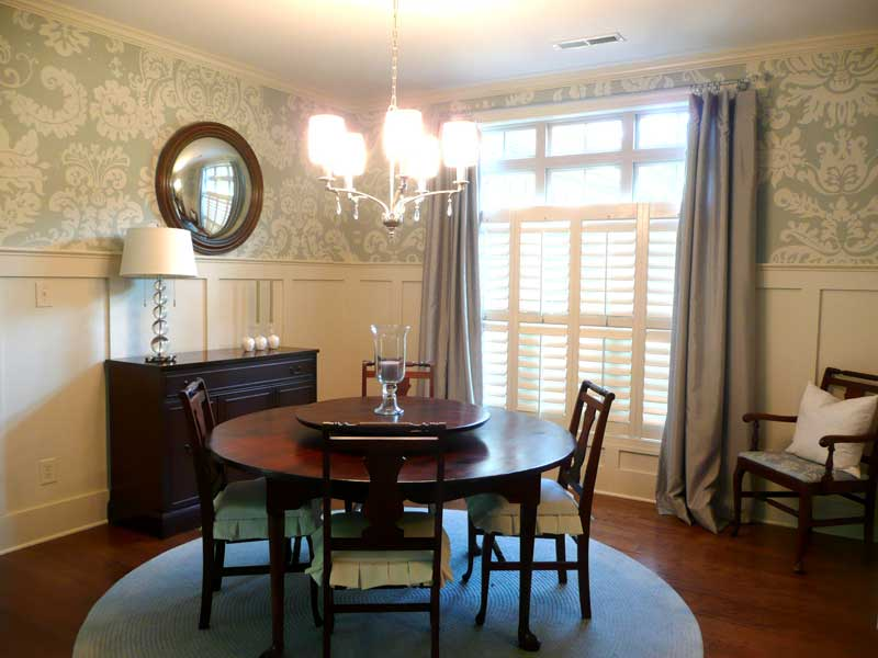 Worthy Style Dining Room Wallpaper 800x600