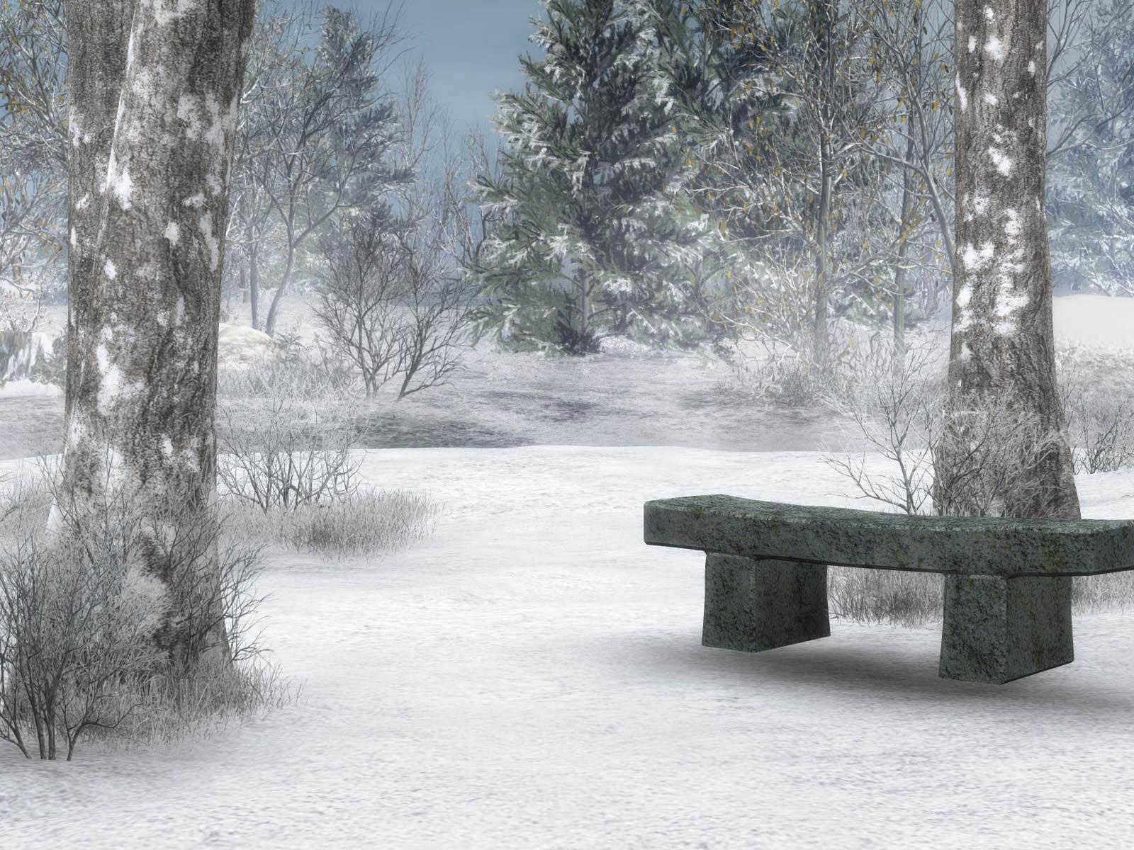 winter scene desktop wallpaper 2017 - Grasscloth Wallpaper