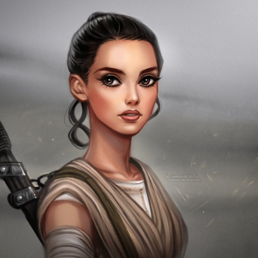 Rey Star Wars Episode VII The Force Awakens by daekazu 894x894