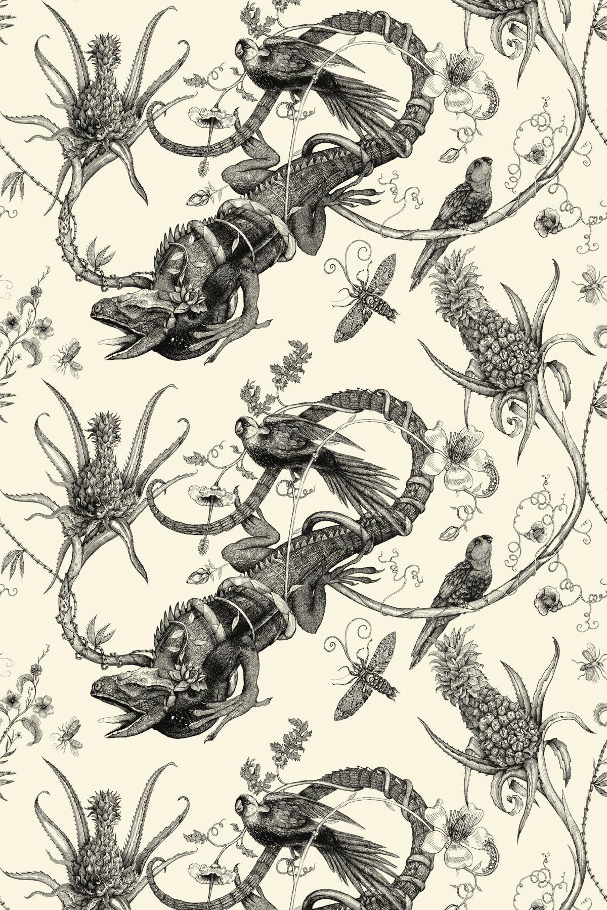 Timorous Beasties Wallcoverings   Iguana Superwide wallpaper 1200x1798