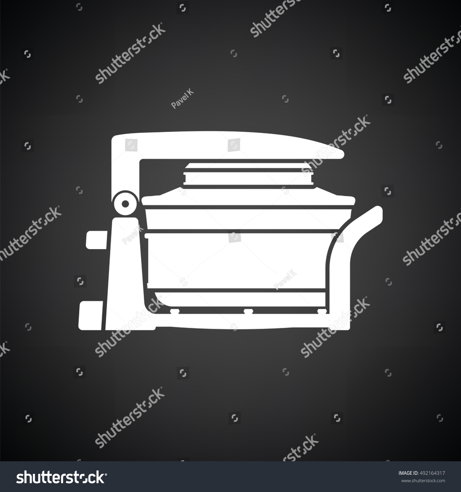 Electric Convection Oven Icon Black Background Stock Vector 1500x1600