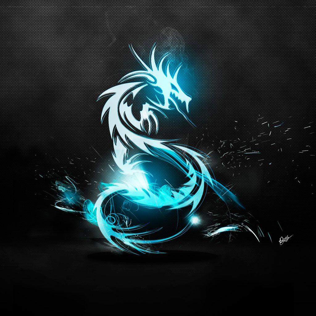 Blue Dragon wallpaper 1024x1024