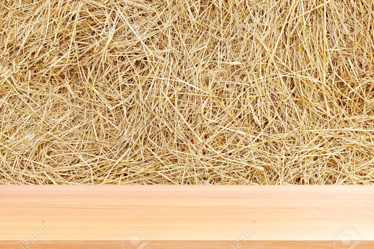 Wood Plank On Straw Empty Wood Table Floors On Straw Hay Dry 1300x866