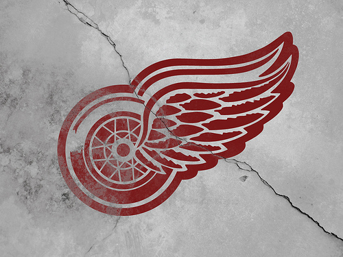Vintage Detroit Red Wings Wallpaper 02 Flickr   Photo Sharing 500x375
