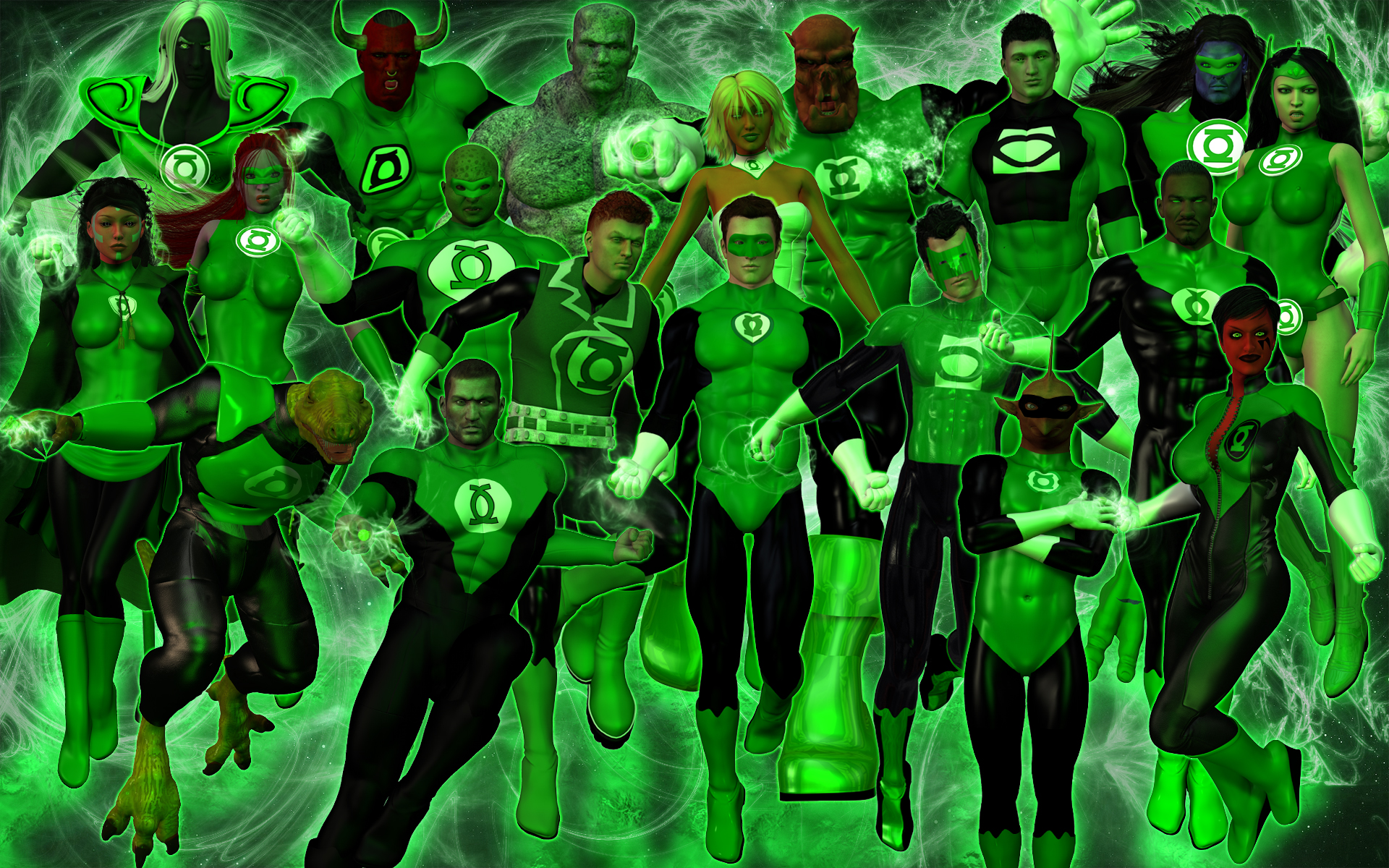 Green Lantern Corps Wallpaper The green lantern corps by 1920x1200