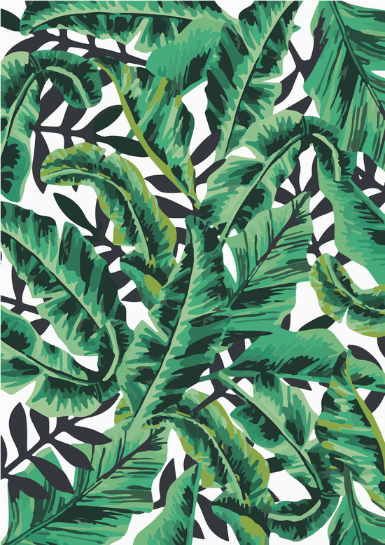 Banana Leaf Wallpaper Tropical Glam Banana Leaf 550x778
