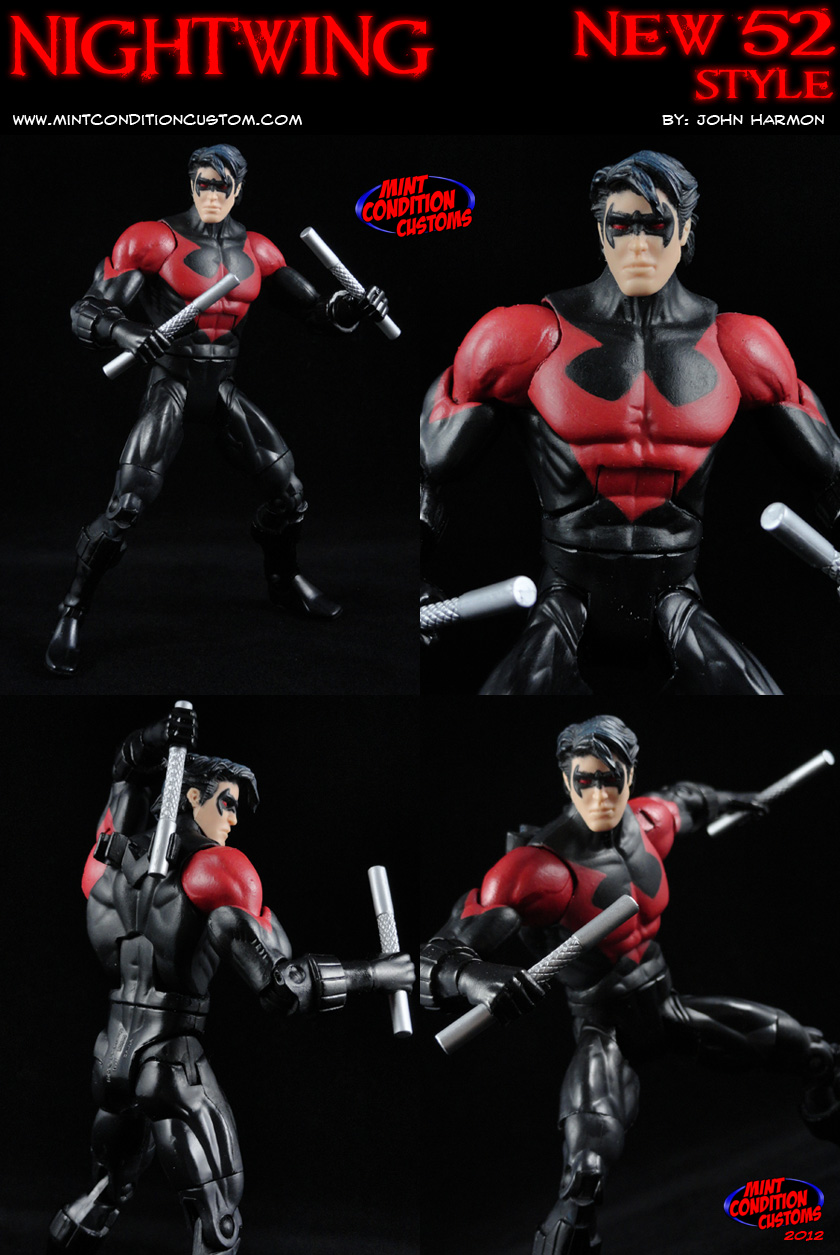 Custom Nightwing New 52 DCUC Action Figure by MintConditionStudios 840x1255