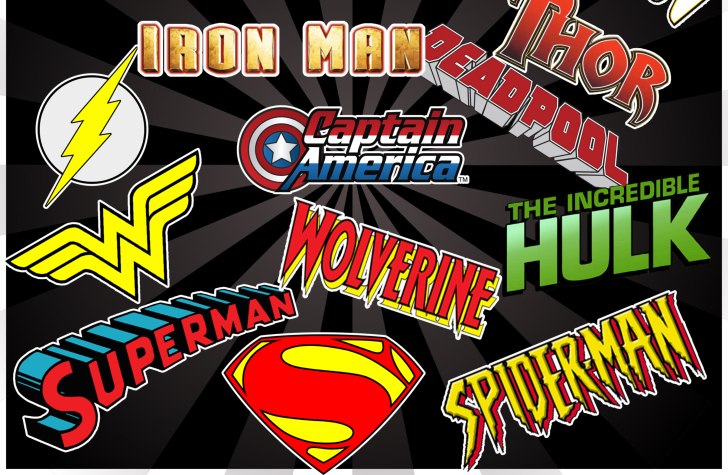 Superhero Logos Wallpaper Superhero Logos Wallpaper 728x475
