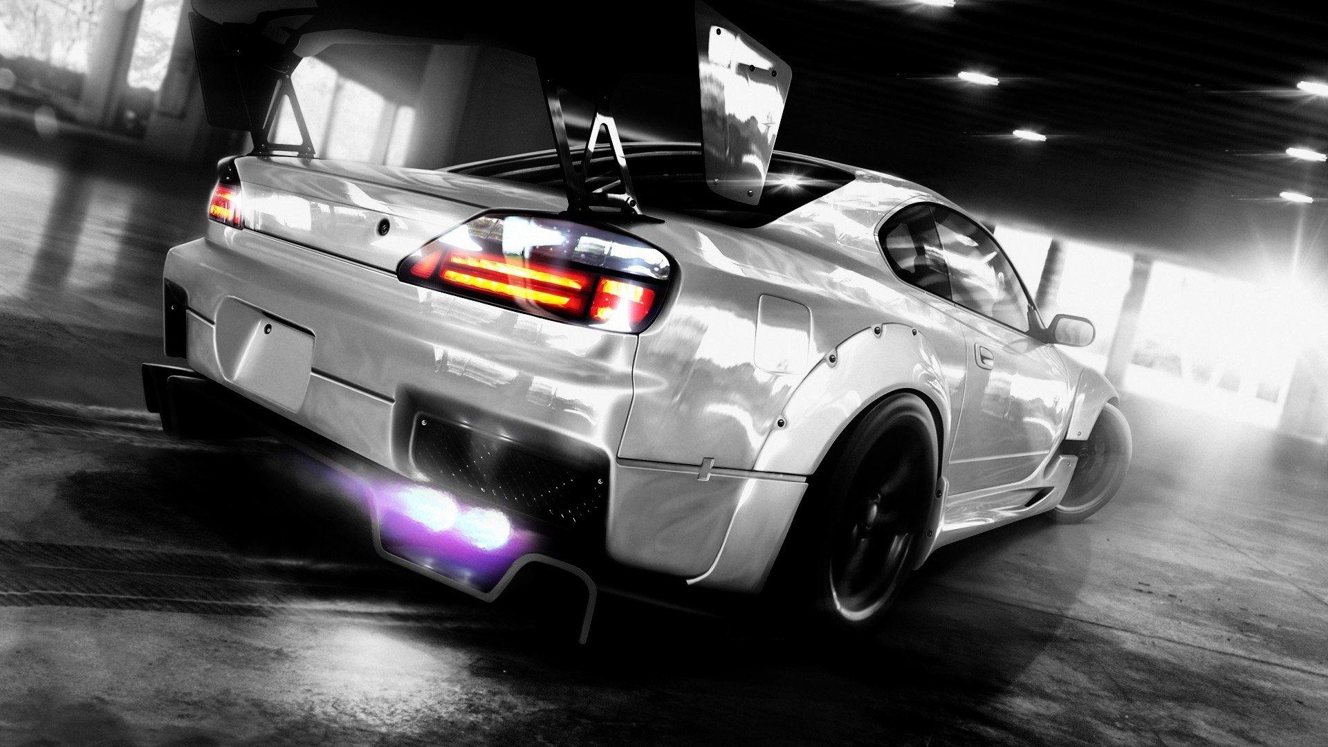 drifting cars tuning Nissan Silvia Nissan Silvia S15 wallpaper 1920x1080