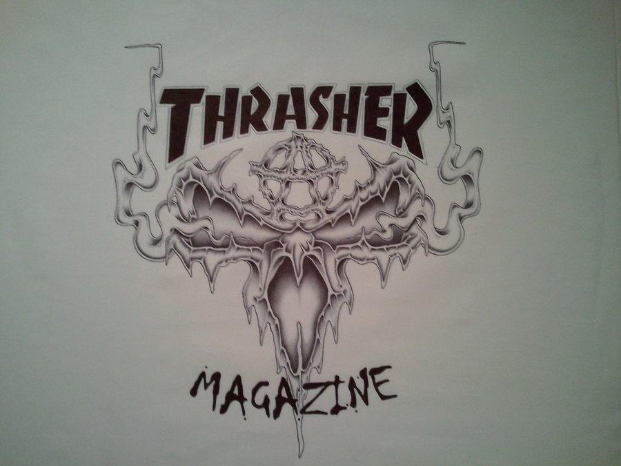 Thrasher Logo Wallpaper Thrasher magazine logo by 900x675