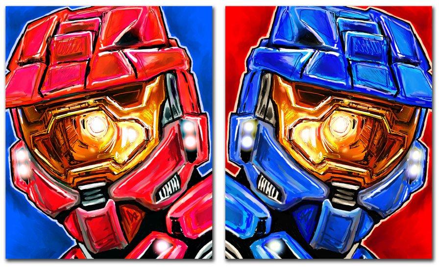Halo Red vs Blue Wallpaper - WallpaperSafari