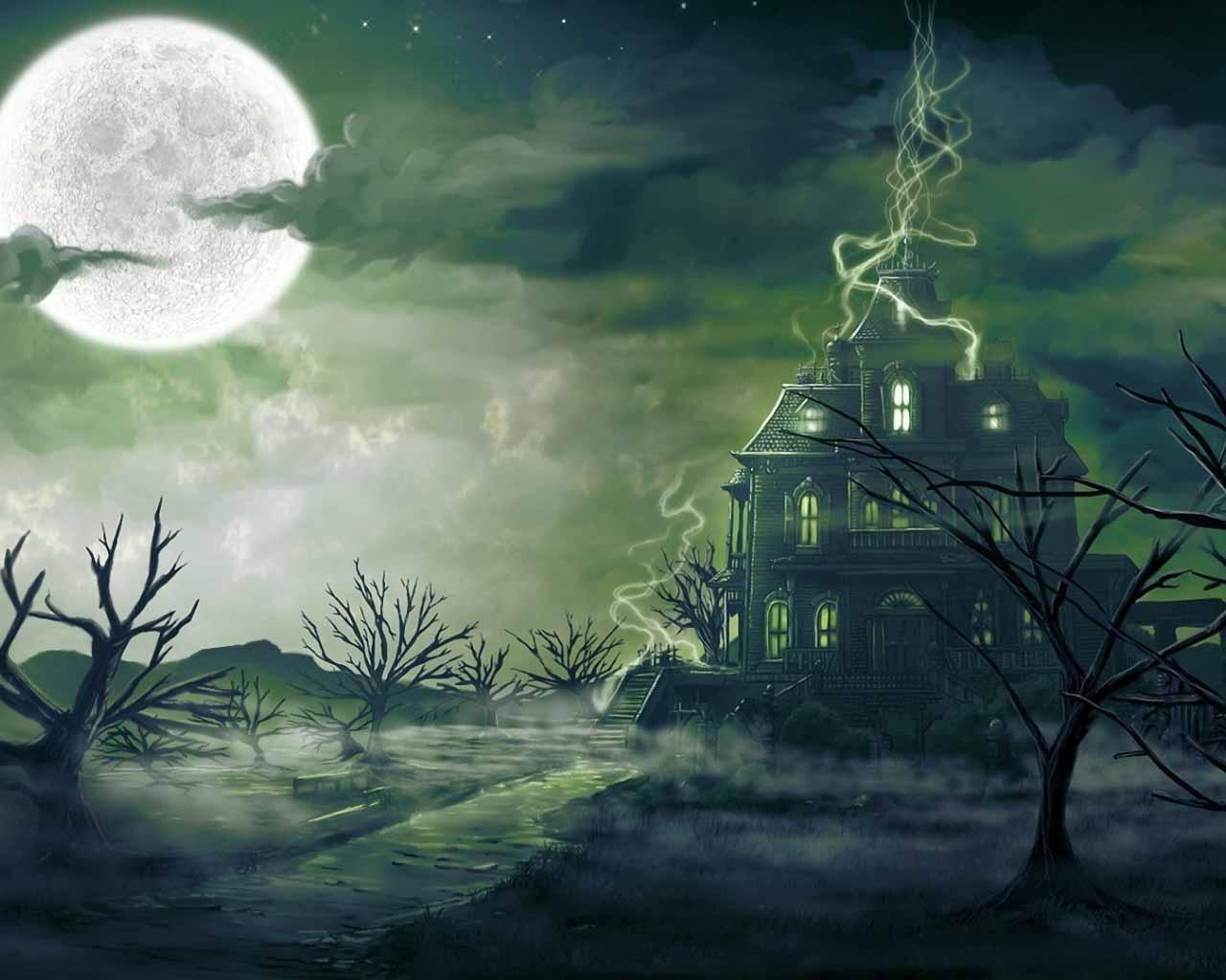 Haunted Mansion Desktop Wallpaper 1280x1024