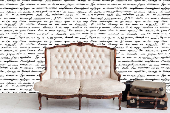 Fabric Temporary Wallpaper Repositionable Reusable  FAST EASY 570x378