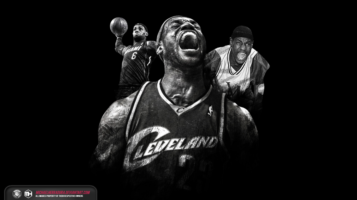 Lebron James Iphone Wallpaper Cavaliers By 1366x768