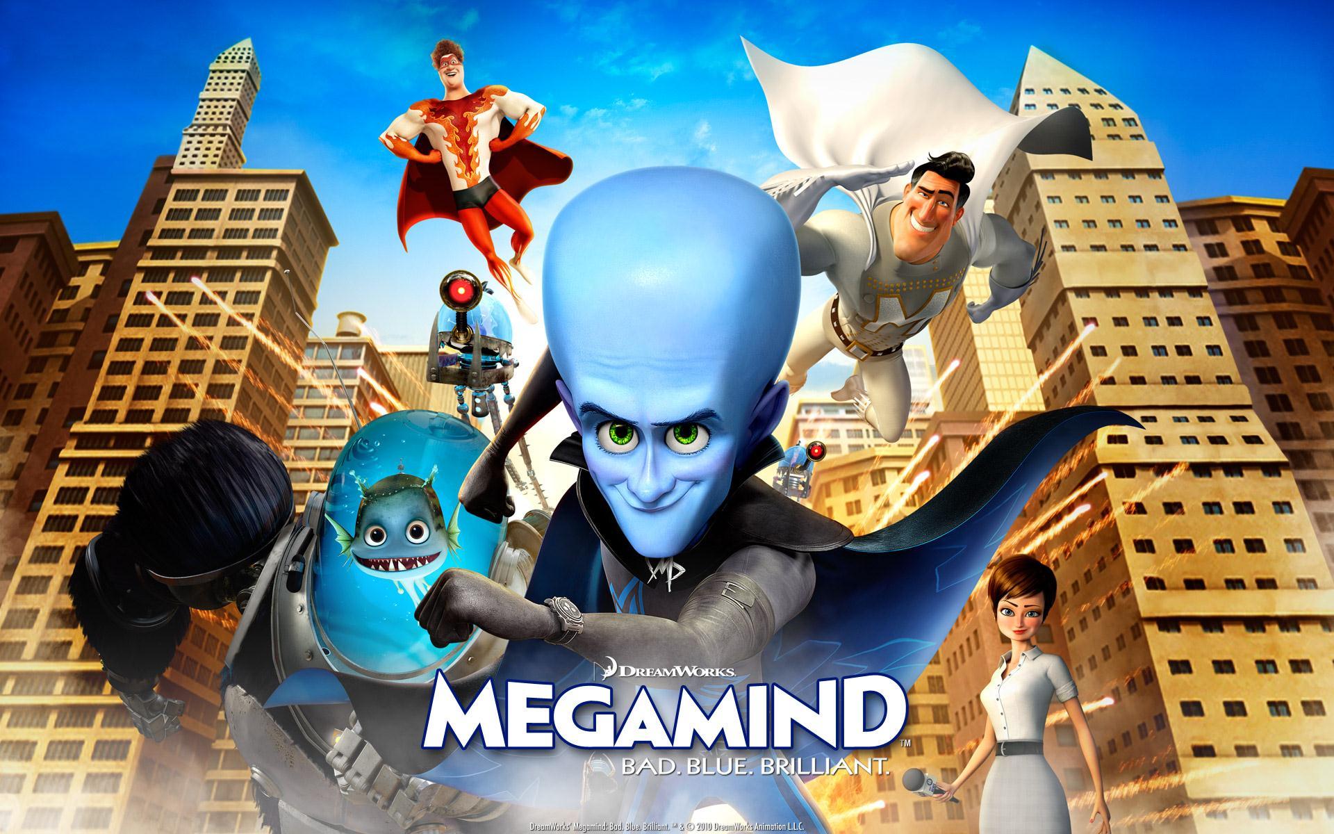 Picture Movie Megamind 3D cartoon movies 1920x1200
