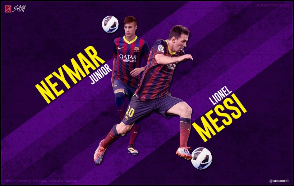 Neymar Lionel Messi Wallpaper HD HD Wallpaper 1216x768