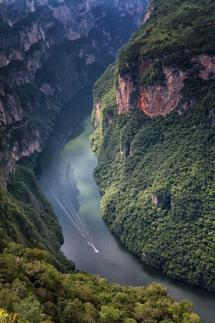 Sumidero Canyon Chiapas Mexico Paisajes Wallpapers fondos 736x1104