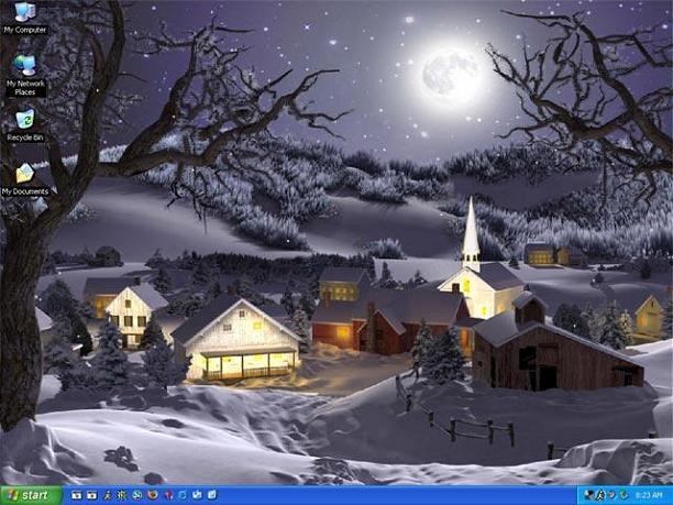 3d animated wallpaper 4 6 watch it snow on your desktop winter 612x459