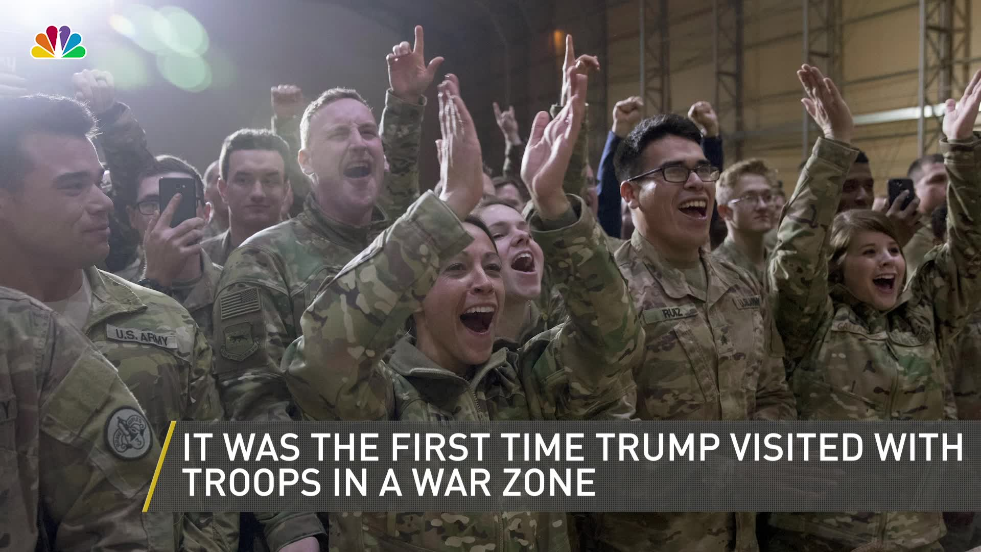 President Trump Makes First Visit to Troops in Combat Zone 1920x1080