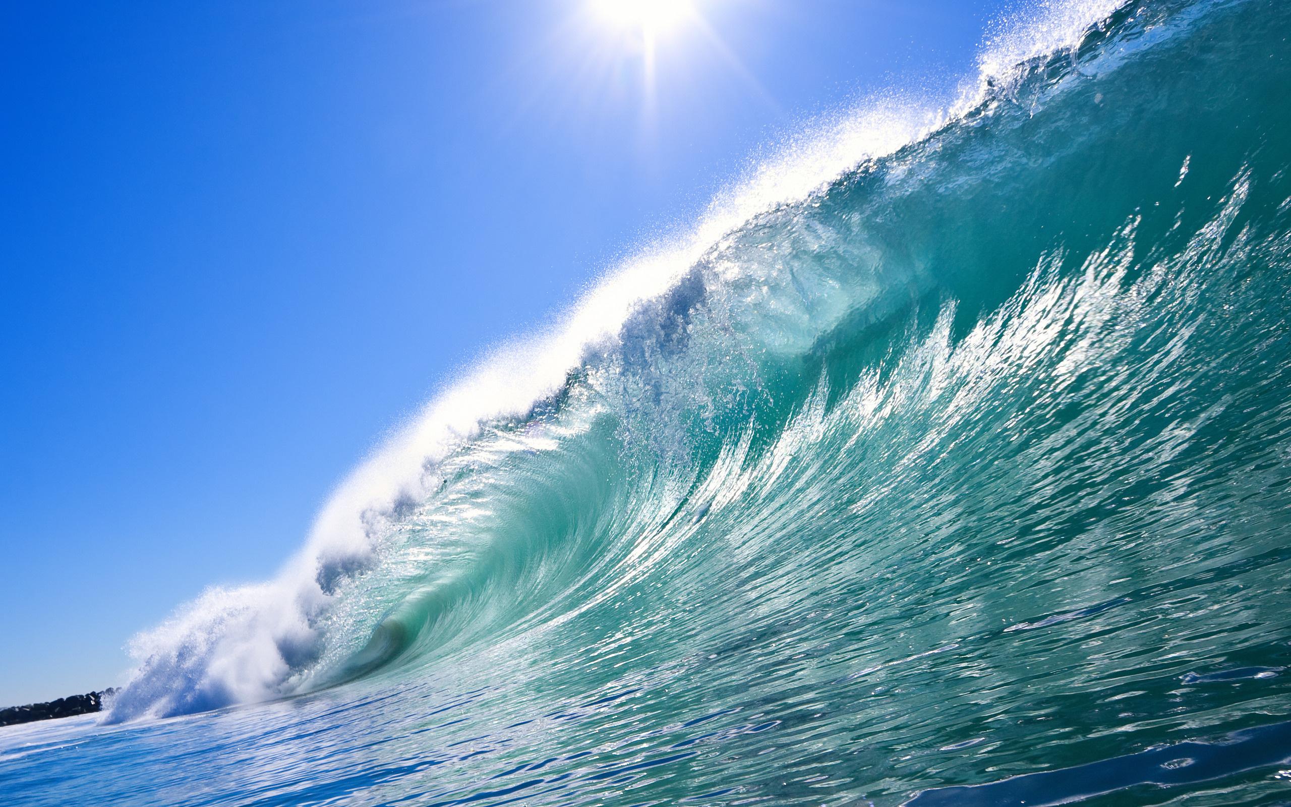 Wallpaper ocean wave spray desktop wallpaper Nature GoodWPcom 2560x1600