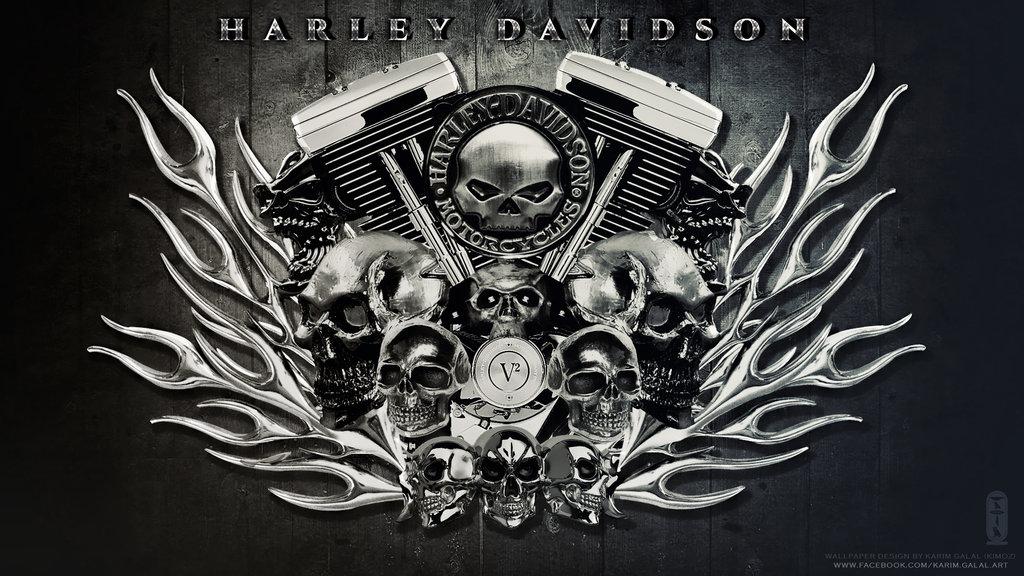 HARLEY DAVIDSON Wallpaper HD by kimoz 1024x576