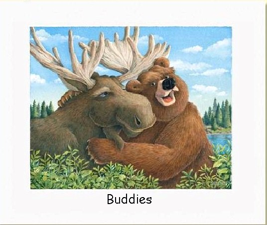 Moose and Bear Buddies 536x452