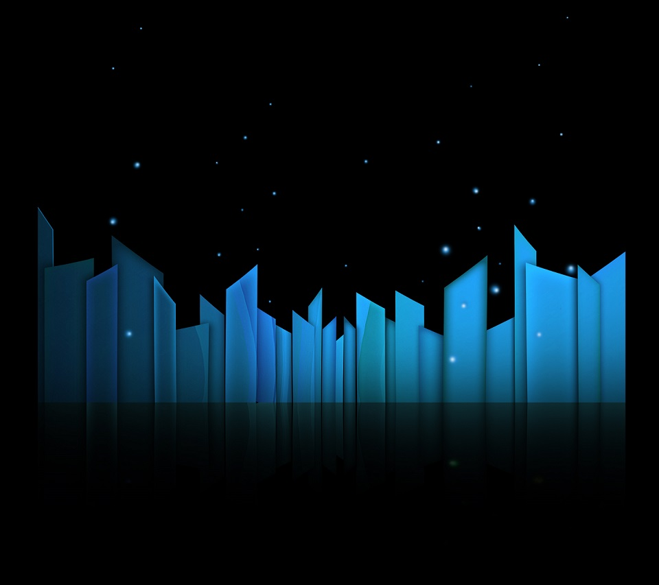 Night Skyline android HD wallpaper 960x853