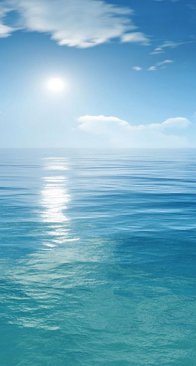 Bright Sunny Scene Over Ocean iPhone 5s Wallpaper Download | iPhone ...