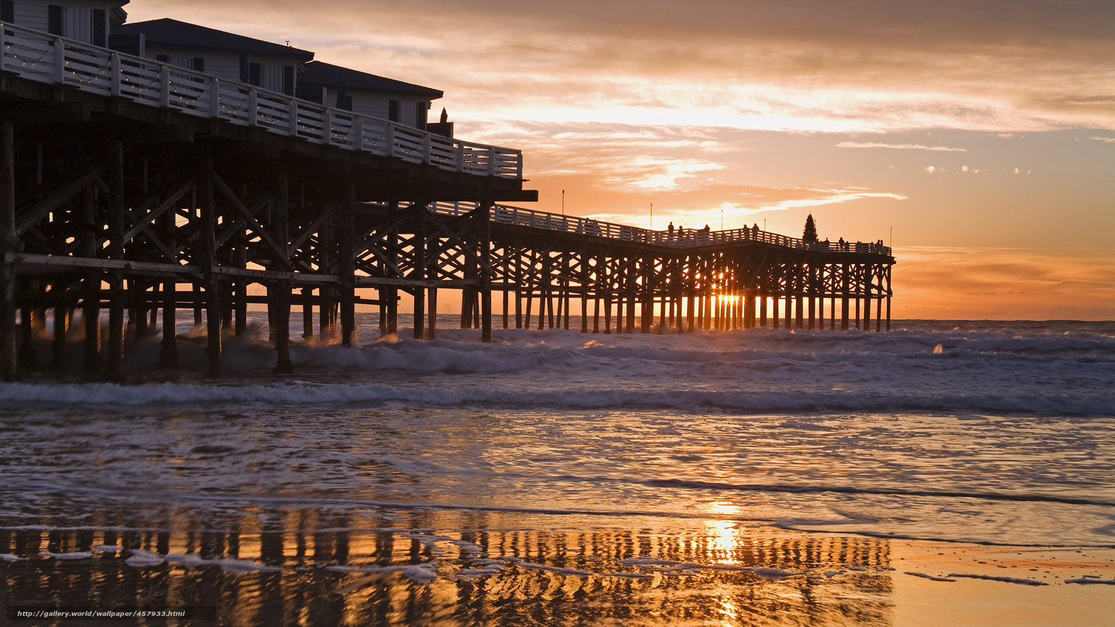 wallpaper pier california beach San Diego desktop wallpaper 1600x900