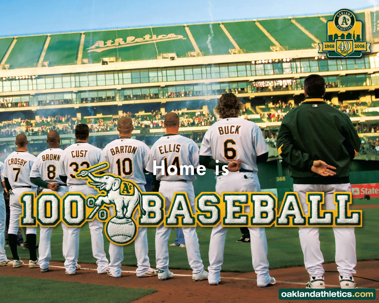 Download Oakland Athletics wallpaper Oakland Athletics Team 1280x1024