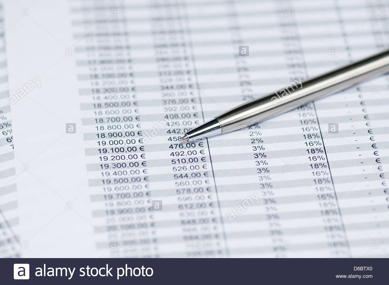Business concept   pen on the background of spreadsheet toned 1300x953