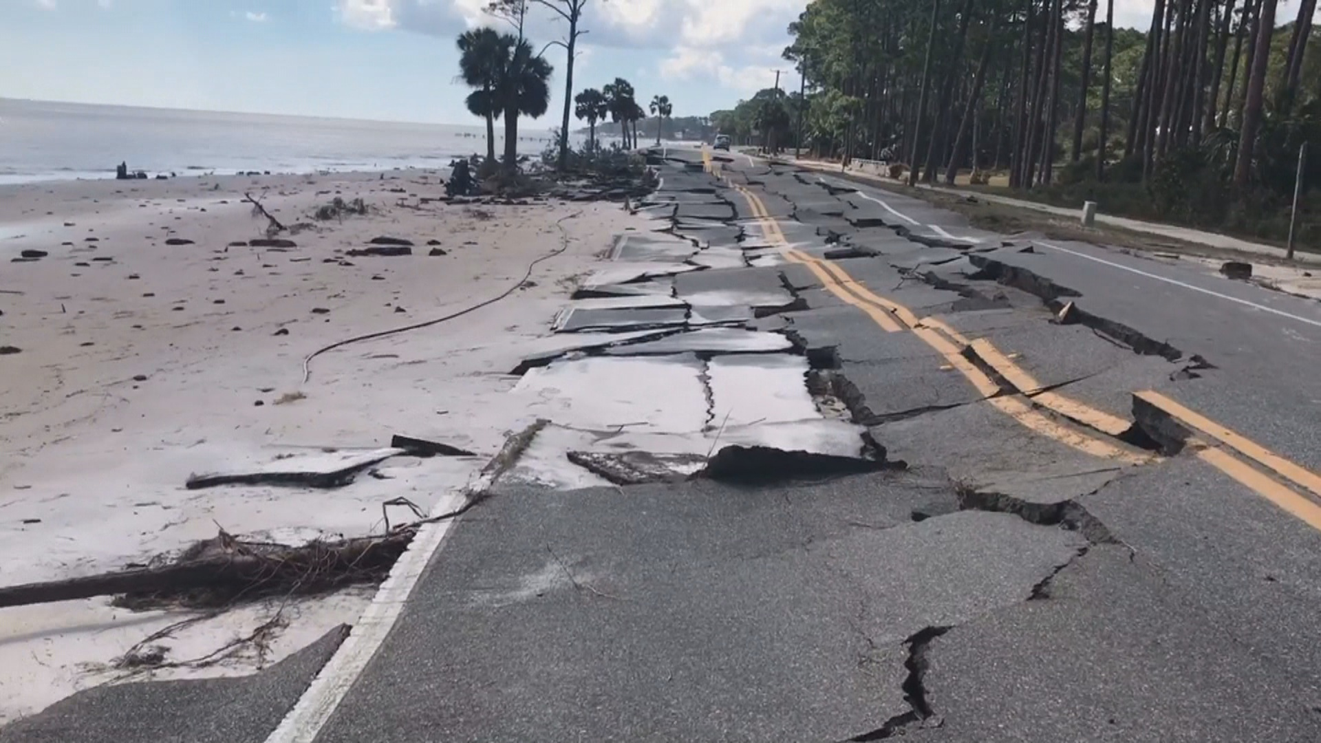 After Michael Damage in Carrabelle Franklin County 1920x1080