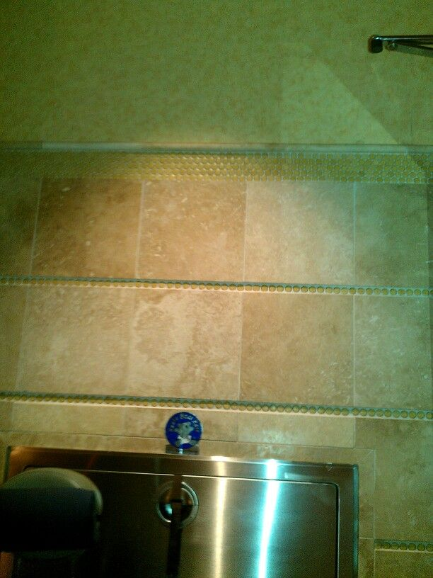 Wallpaper above crown molding Bathrooms of Luxury Pinterest 612x816