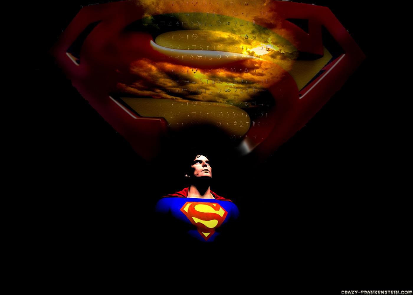 Black background Superman Wallpaper Cartoon Wallpapers 1400x1000