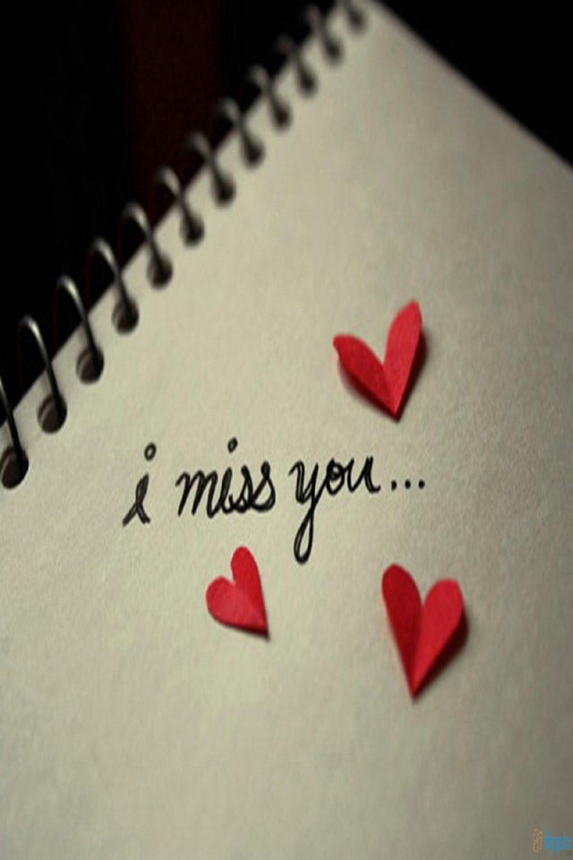 Miss You Wallpaper   iPhone Wallpapers 640x960